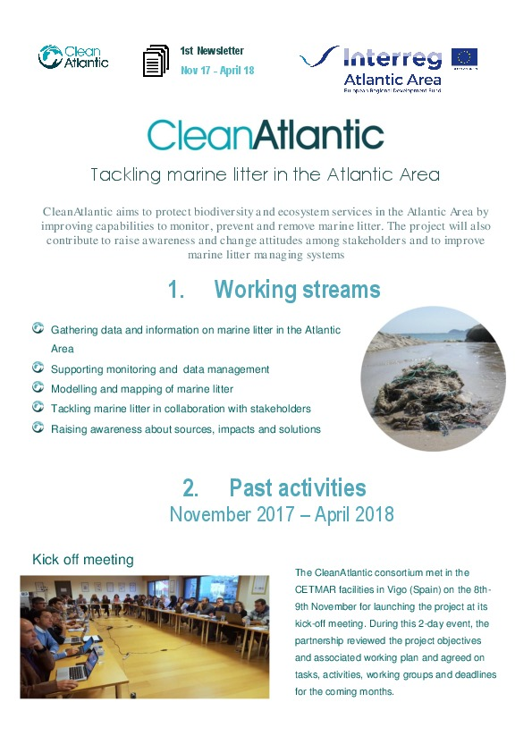 1st CleanAtlantic newsletter